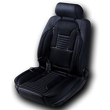 Sojoy Universal 12V Heated Car Seat Cushion Warmer High Medium Low Automatic Shut Off Timer Dark Gray 3 Temp Switch Auto USA Top Christmas