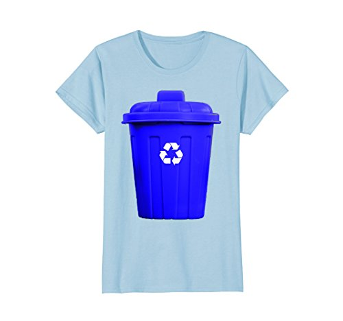 Womens Recycling Can Funny Hilarious Halloween Costume T-Shirt