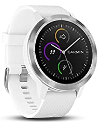 Smartwatch GARMIN Vivoactive 3 1,2' GPS Waterproof 5 ATM Glonass White Stainless steel (Renewed)