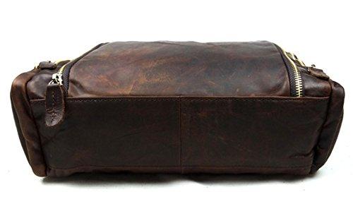 Bolsa de insum Retro hombre piel para chocolate Marrón Crossbody AYaOYn