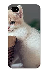 Top Quality Protection Animal Cat Case Cover For Iphone 4/4s With Appearance/best Gifts For Christmas Day