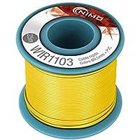 Cable rígido 0,5mm para conexionado carrete 25 metros (Amarillo)