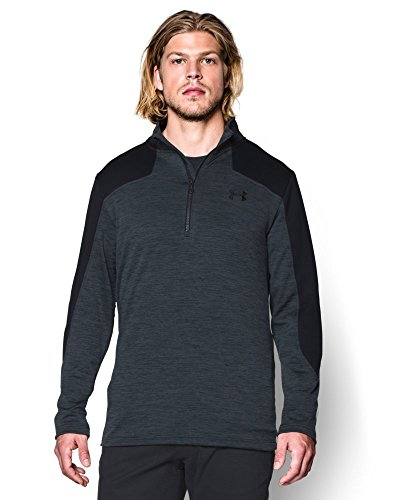 Under Armour Men's Gamut 1/4 Zip, Stealth Gray/Black, Medium