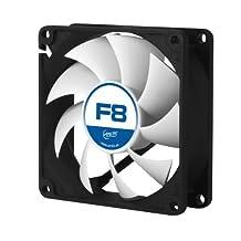 ARCTIC F8 - 80 mm Standard Low Noise Case Fan - Black/silver - Fluid Dynamic Bearing - Innovative Design