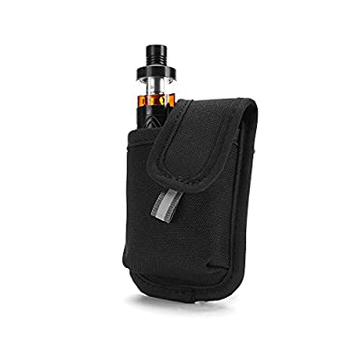 Wick and Wire - LowKey Mini Box Mod Vape Case - Portable Premium Vapor Bag - Travel Pouch Mod Holder (Black)