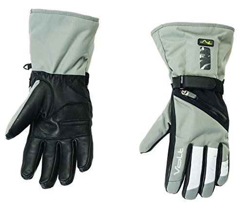 Womens Volt Heated Snow Gloves, Grey, Medium