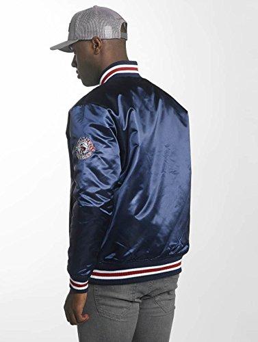 Nba Bomber Jacke Blu Cavaliers Wordmark Cleveland amp; Satin Ness Hwc College Mitchell Jacket O1q6Sn