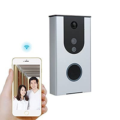 Wireless Video Doorbell, Bwen Wi-Fi Battery Powered Smart Enabled 720P HD Security Camera, Motion Detection, Night Vision, with Two Way Audio