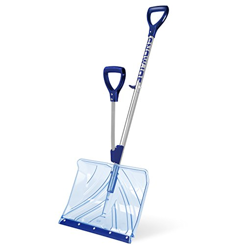 Snow Joe SJ-SHLV02 18-in Strain-Reducing Poly Carbonate Blade Snow Shovel w/Spring Assisted Handle by Snow Joe