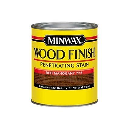 Minwax 70007444 Wood Finish Penetrating Stain Quart Red Mahogany