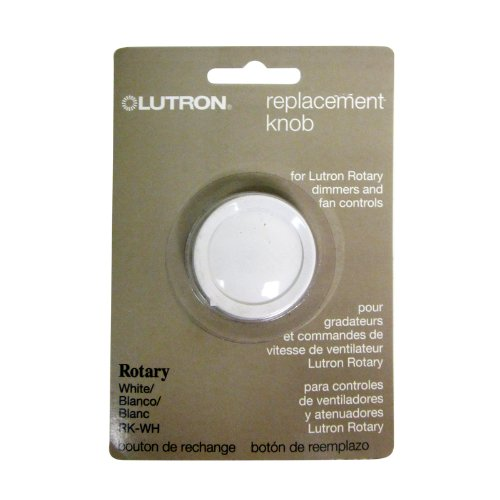 Rotary Dial Switch - Lutron RK-WH Rotary Dimmer Replacement Knob, White