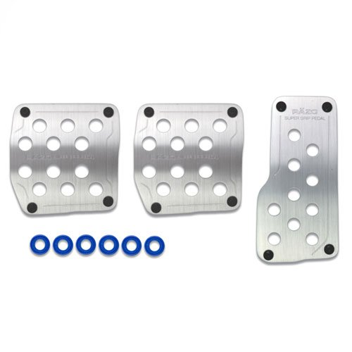 Razo RP123A Super Grip Silver Manual Transmission Pedal Set - 3 Piece