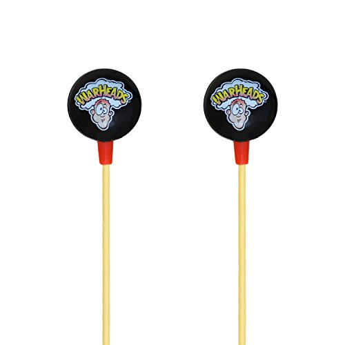 iHip WARHEADS Candy Stereo Earbud with Built-in Mic for Apple Android Compatible Gifts for Kids Teens Earbuds for Boys and Girls Fun and Collectible