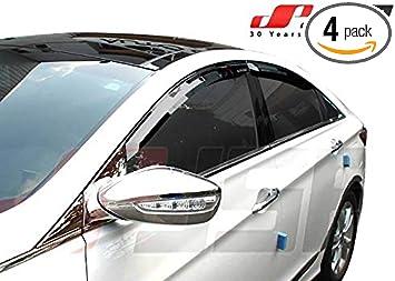Window Visors Rain Guard for Hyundai Sonata Hybrid 2011 2012 2013 2014 2015 2016