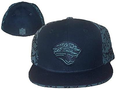Jacksonville Jaguars Fitted Size 7 3/8 Vine Design Hat Cap - Black & Sage Green