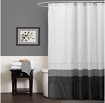 72 by 72-Inch Lush Decor Mia Shower Curtain Purple//Gray