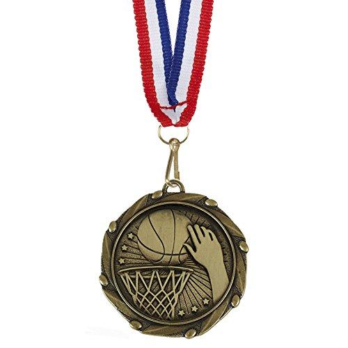 45 mm baloncesto medalla con cinta y grabado gratuito hasta 30 ...
