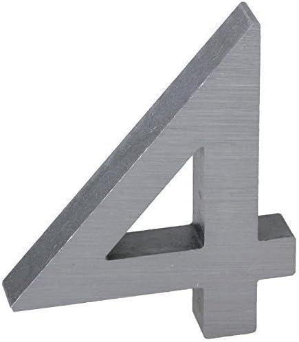 Aluminium massiv 10cm Haust/ür Kennzeichen Garten Schild Modell Elecsa 0244 3-D Hausnummer 4