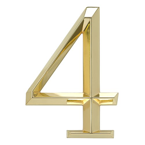 Whitehall Products Classic 6 Inch number 4 Polished Brass...