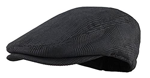 Men s Herringbone Wool Tweed Newsboy Ivy Cabbie Driving Hat 1336da42d315
