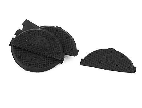 uxcell Rubber Shoes Boots Sole Heel Guard Taps Repair Pads 8pcs Black