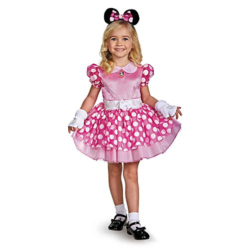 Disguise Pink Minnie Classic Tutu Costume, Small (2t Disney Minnie Mouse)