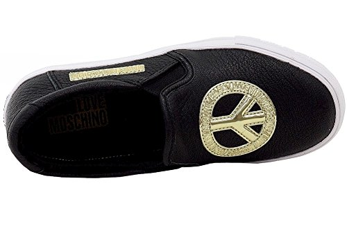 Love Moschino JA15053G12I Slip On Damen Leder Schwarz