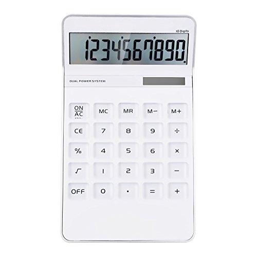 Calculator,10 Digits Electronic Desktop Calculator, Solar