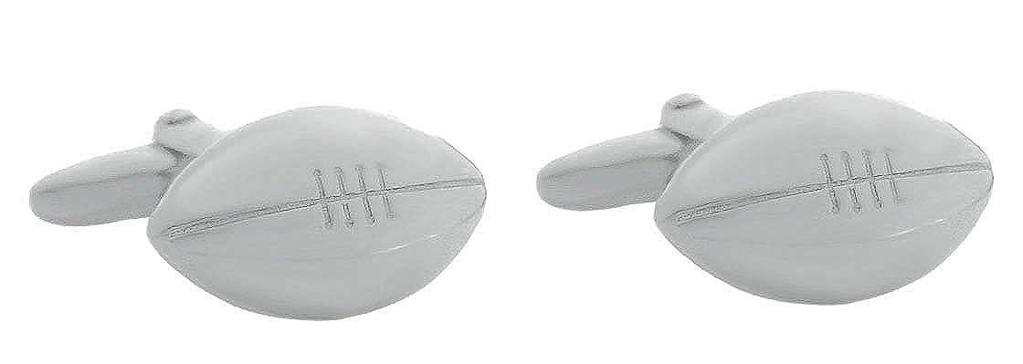 Unbekannt Manschettenkn/öpfe American Football silbern gl/änzend m.i Germany inkl Geschenkbox!