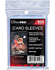 """Ultra Pro Card Sleeves 2 5/8"""" x 3 5/8"""" Standard Size Sleeves 100 Count"""