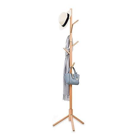 Amazon.com: KTOL Perchero de madera de pie libre, moderno ...
