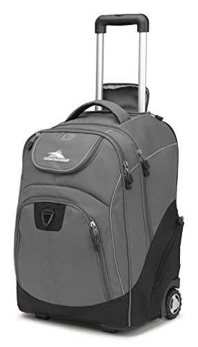 High Sierra Power glide Wheeled Laptop Backpack, Slate/Black (Duty Rolling Heavy Backpack)