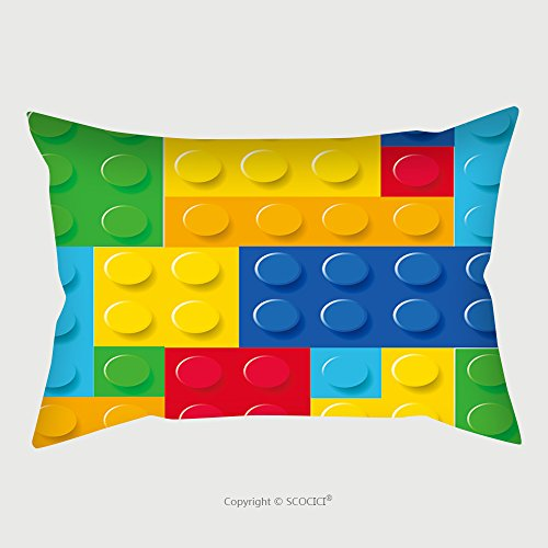 Custom Satin Pillowcase Protector Pattern Of Colorful Childish Blocks Vector 232077100 Pillow Case Covers Decorative by chaoran