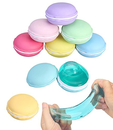734a4c4ac83f3 RoterSee 6PCS Crystal Clay Macarons Clear Slime Jelly Toy Soft Mud ...