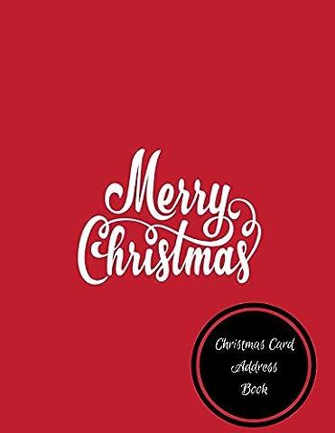 Christmas Card Address Book: Christmas Card Log - Christmas Card Address Book