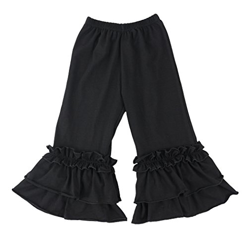 - Wennikids Infant/Toddler Girls Stretchy Flare Pants w/Ruffles 1-6T Medium Black