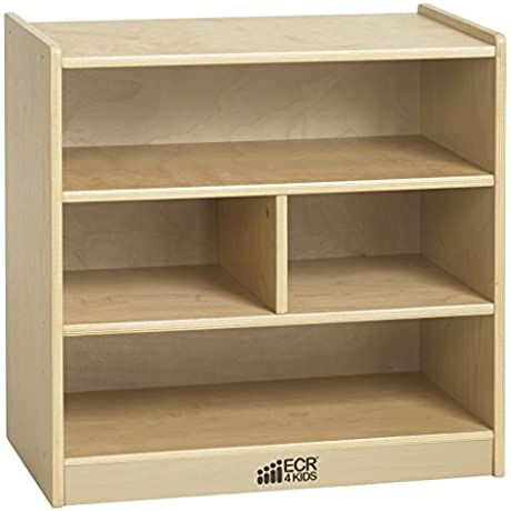 ECR4Kids Birch Hardwood Block Storage Cart Natural