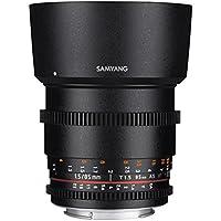 Samyang 85mm T1.5 VDSLR Manual Focus Video Lens for Canon DSLR Cameras