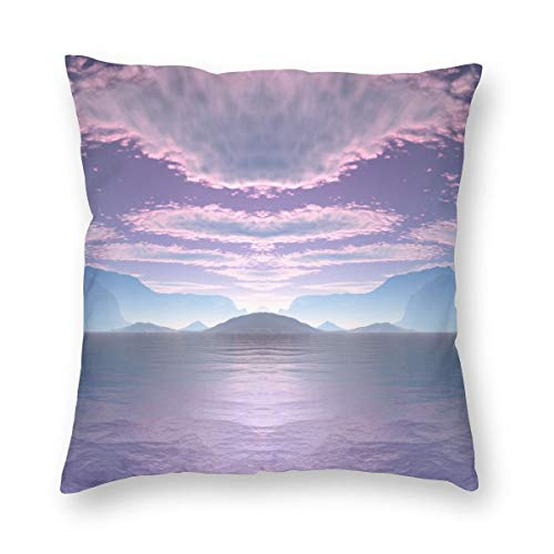 (MAYUES Sci Fi Landscape Crescent Bay Small Gingezel 2012_289-Gingezel Square Throw Pillow Covers Set Cushion Case Square Car Sofa Waist Cushion Cover 18 X 18 Inch 45 X 45 cm)