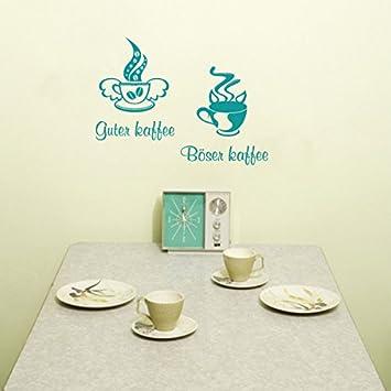 guter Kaffee böser Kaffee Wandtattoo KÜCHE CAFE COFFEE WandTattoo ...
