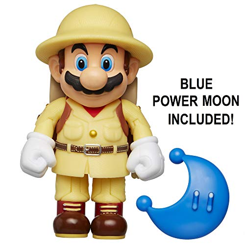 "(Nintendo Super Mario Explorer Mario 4"" Articulated Figure with Blue Power)"