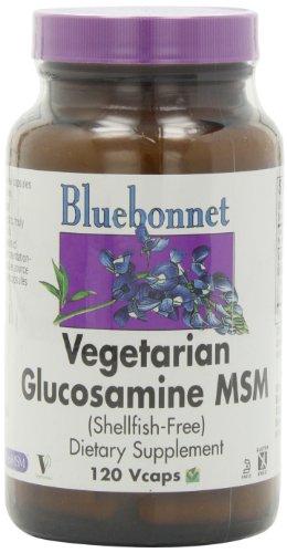Bluebonnet végétarienne Glucosamine MSM (Coquillages gratuit) - 120 Vcaps