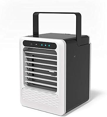 ZMXZMQ Ventilador del Acondicionador De Aire, Pequeño Refrigerador De Aire USB Personal, Mini Humidificador Purificador De Aire con Asa Portátil, para Mesa De Noche De Escritorio De Oficina: Amazon.es: Hogar