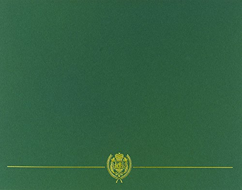 Great Papers! Classic Crest Hunter Green with Gold Foil Certificate Cover, 12