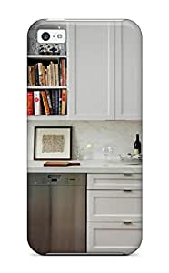 Shock-dirt Proof White Kitchen With Shaker Cabinet Doors And Marble Backsplash Case Cover For Iphone 5c