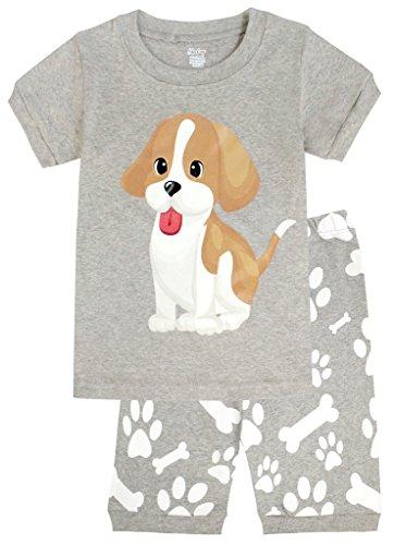 Boys Cotton Pjs (Little Boys Short Pajamas Kids Cotton PJs Children Dog Sleepwear Size)