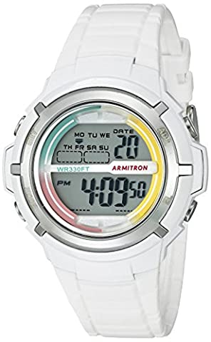 Armitron Sport Women's 45/7045RNB Multi-Color Accented White Resin Strap Watch (Armitron Sports 50)