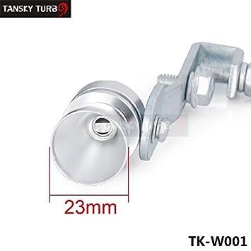 Universal para el coche Turbo sonido silbato Silenciador Tubo De Escape Blow Off Vale BOV Simulador Whistler tamaño M tk-w001 (1pc): Amazon.es: Coche y moto