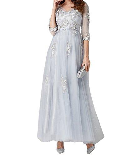 Spitze Braut Tuell Knoechellang mia Promkleider La Hell Brautmutterkleider Silber 2018 Abendkleider Ballkleider A Linie aqt88nR5P