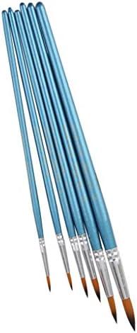 【ノーブランド品】ペイント 図画 画材 ナイロン 絵画 用 水彩筆 絵筆 画筆 ブラシ 6本セット